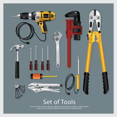 Set of Tools Collection Vector Illustration
