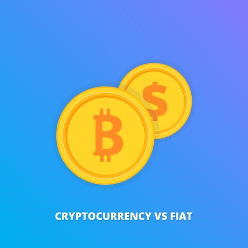 Vector a ilustração do bitcoin da troca ao ícone de USD, ícone do sinal de Bitcoin para o dinheiro do Internet. Símbolo de moeda criptografado e troca de imagem de moeda USD