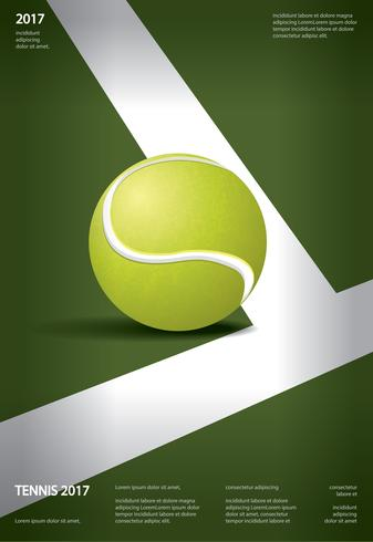 Tennis Championship Poster Vector illustration