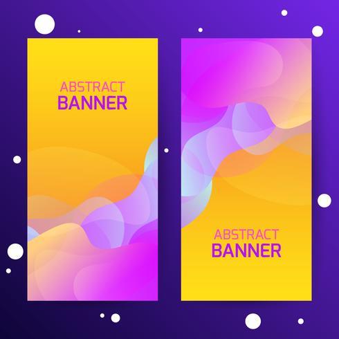 Resumen degradado moderno ondas pancartas. Efecto dinámico. Estilo de tecnología futurista. Web banners plantilla de diseño.