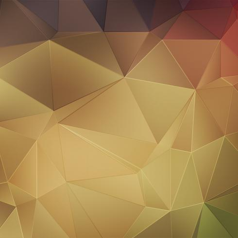 Fondo poligonal abstracto de oro