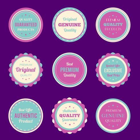 Colorful badges and labels set
