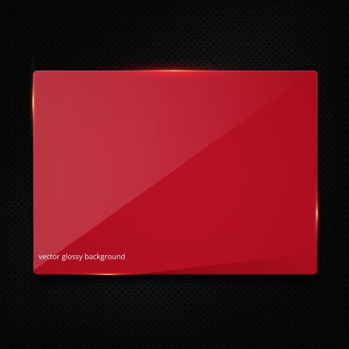 Bannière rouge sur fond de fibre de carbone noir vecteur