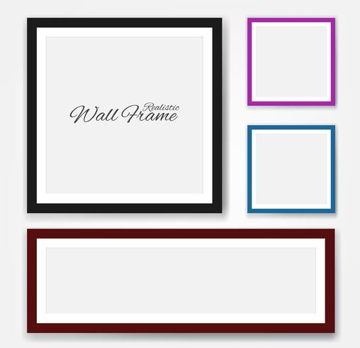 Realistic wall frames set