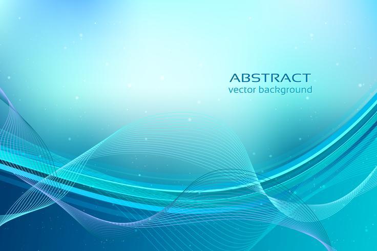 Blue dynamic wavy background vector