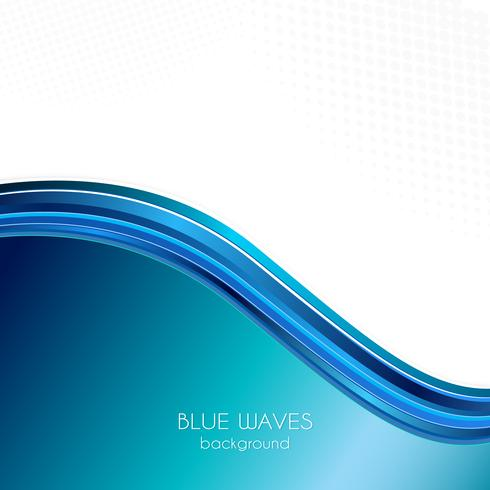 Blue waves background. Abstract blue wave background Blue wave business template
