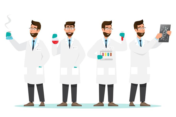 medical concept. Scientists man research in a laboratory lab