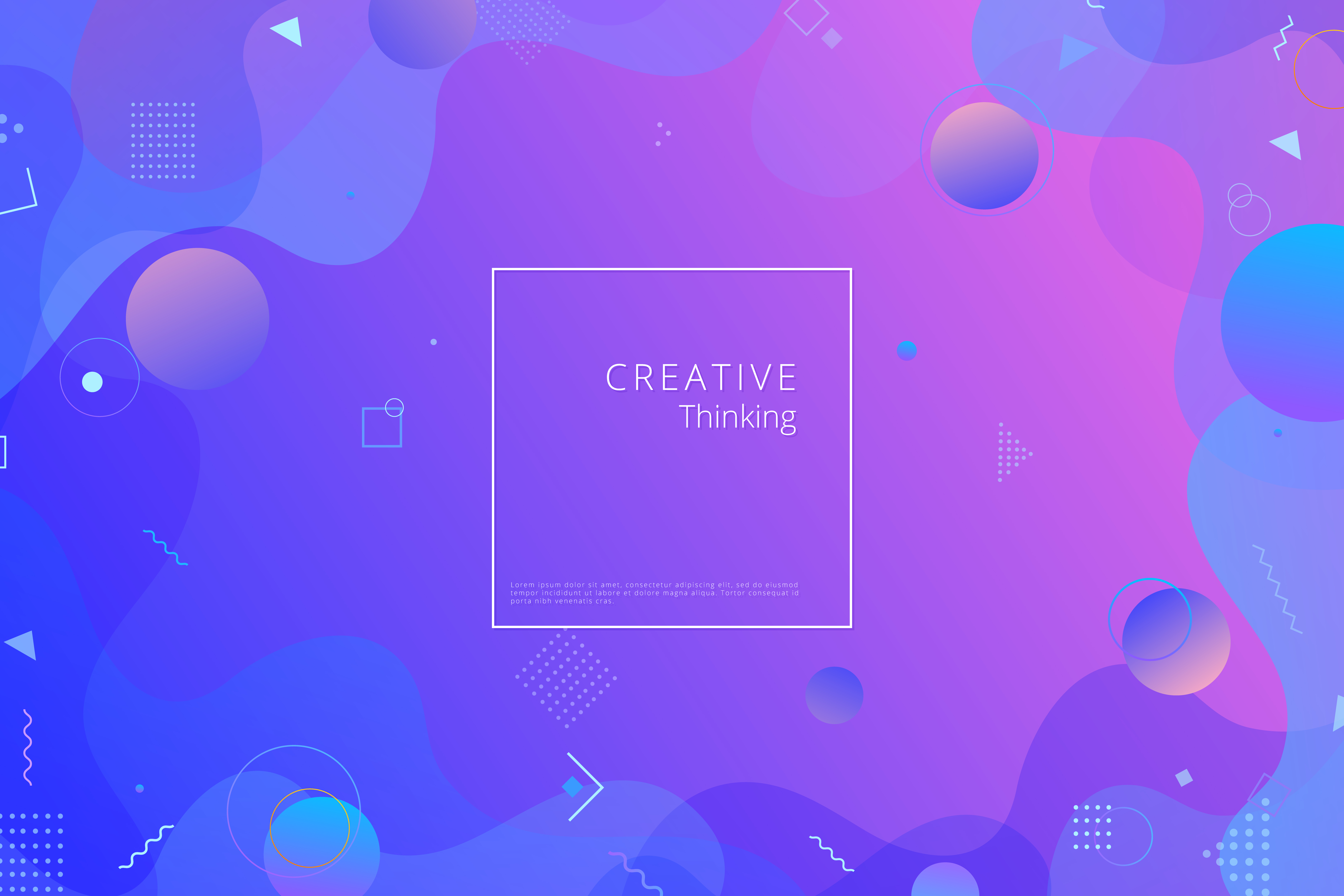 Colorful geometric background. Fluid shapes composition ...
