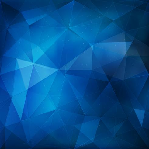 Blue geometric background vector