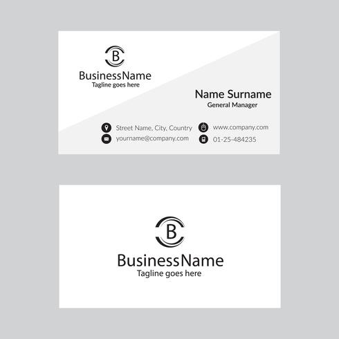 White minimal business card template vector