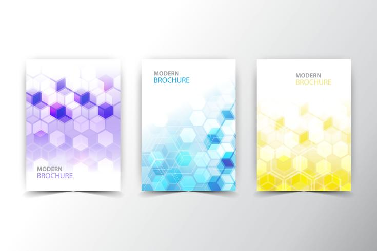 coleção de panfleto poligonal