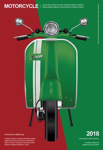 Weinlese-Motorrad lokalisierte Vektor-Illustration vektor