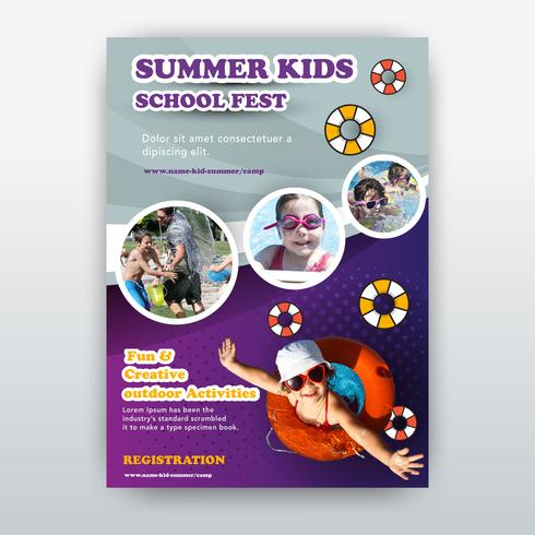 summer kids flyer
