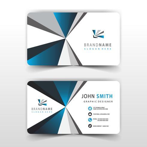 diseño de tarjeta de visita simple