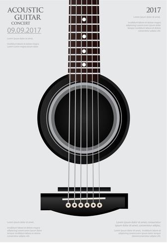 Gitarrkonsert Poster Bakgrundsmall Vektorillustration