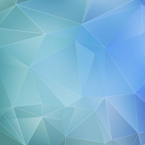 Blue geometric background vector