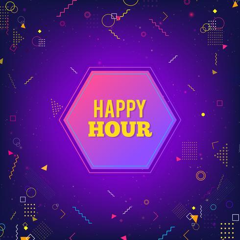 Happy Hour púrpura de fondo moderno
