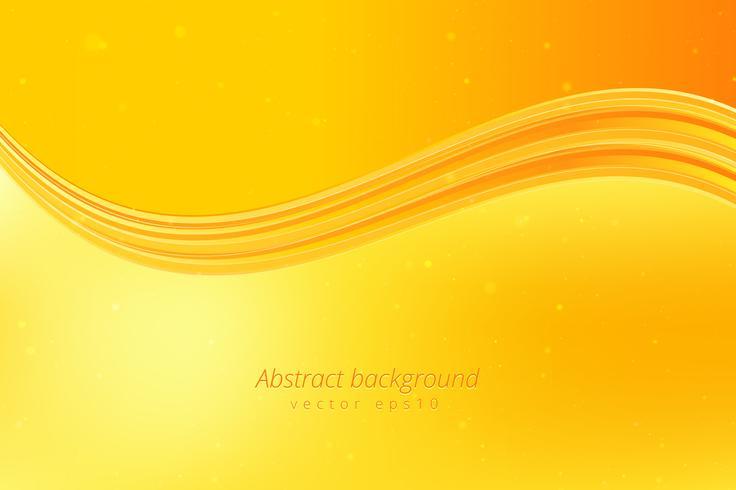 Fondo amarillo de la onda