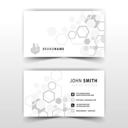 cartão poligonal simples