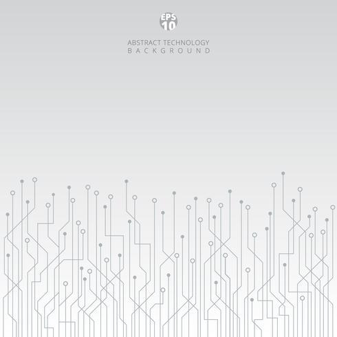 Abstrakt teknik kretskort på vit bakgrund. vektor