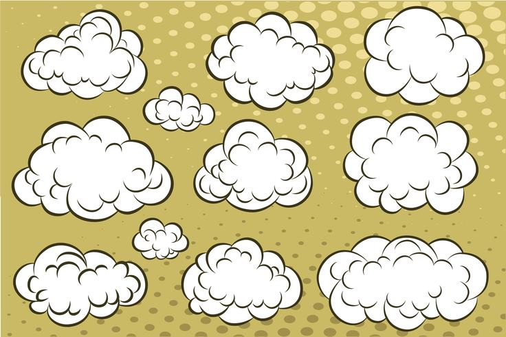 Comic book clouds vector