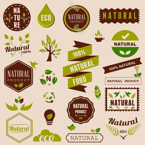 Eco Satz Naturgestaltungselemente, -aufkleber und -ausweise