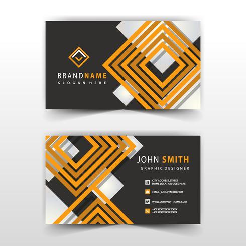 design di carte da visita di forma arancione e nera