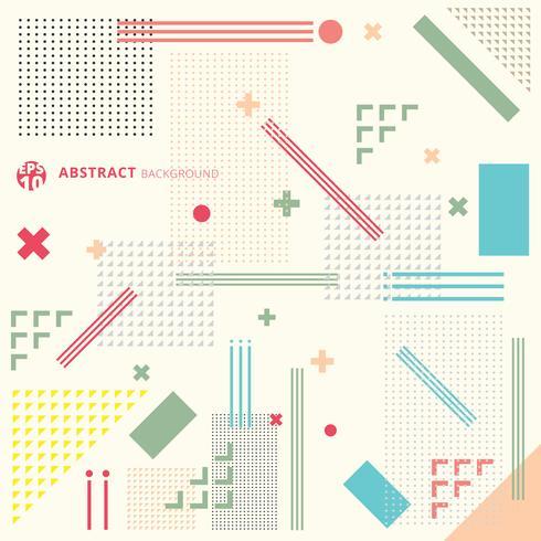 Geometrischer Hintergrund der modernen abstrakten Kunst mit flacher minimalistic Art