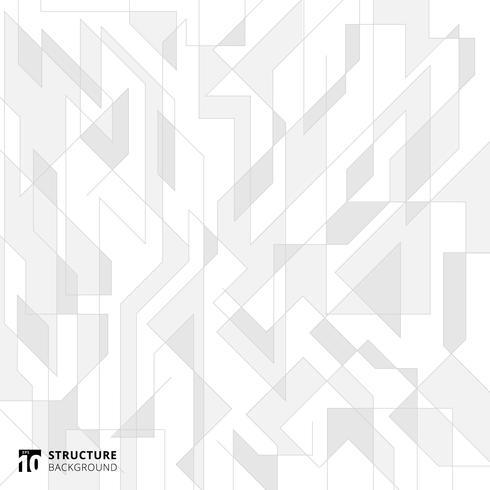 As linhas abstratas estruturam o fundo branco e cinzento.
