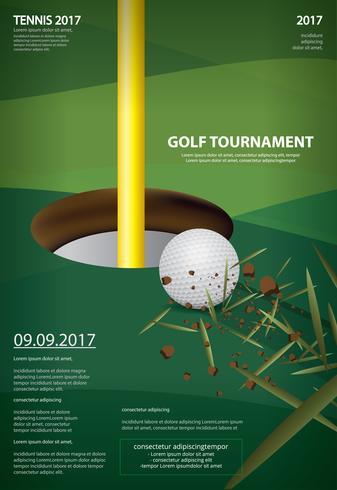 Cartel de golf campeonato ilustración vectorial vector