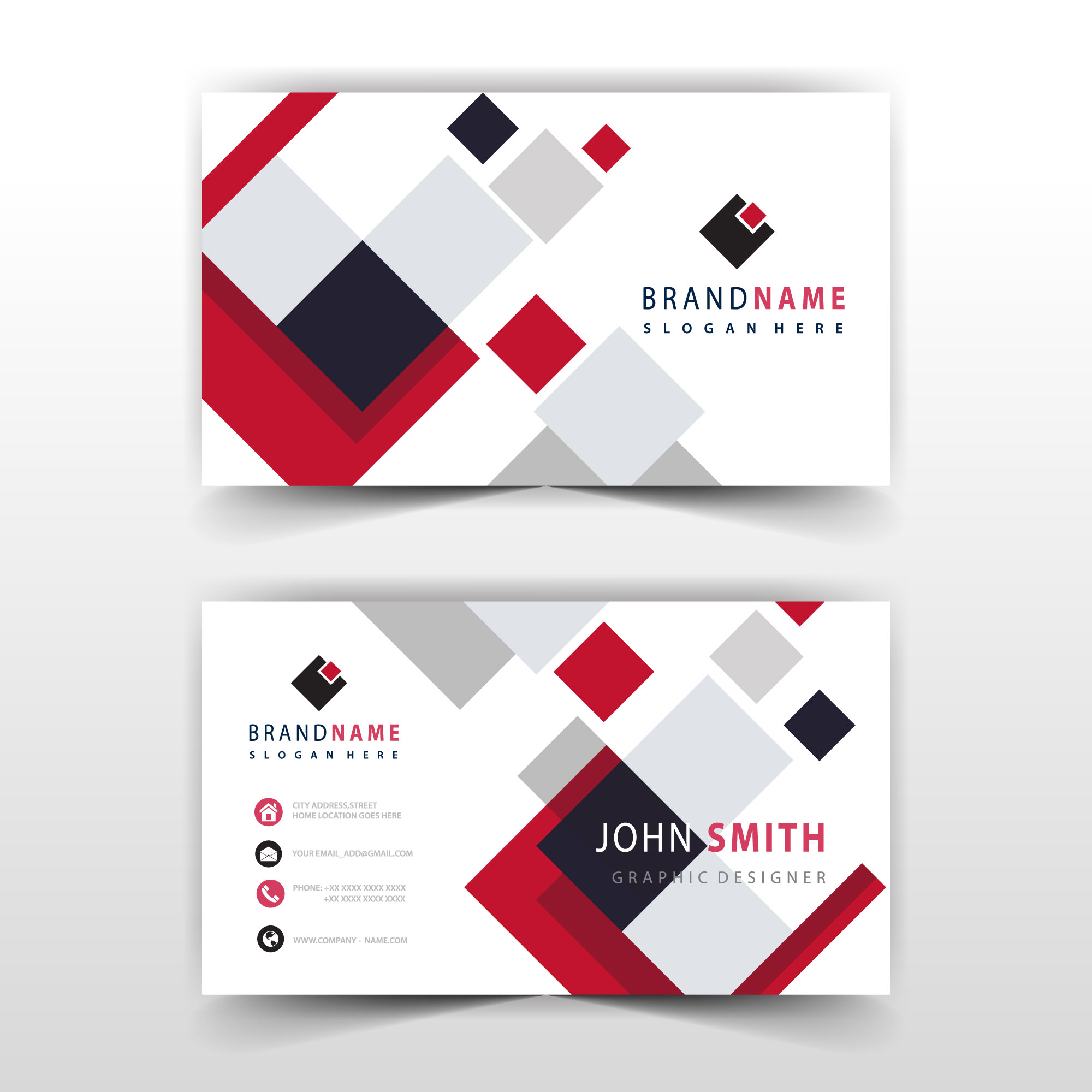 editable business card template 22 Vector Art at Vecteezy Inside Free Complimentary Card Templates