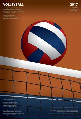 Volleybollsturneringaffischmallar Design Vektorillustration
