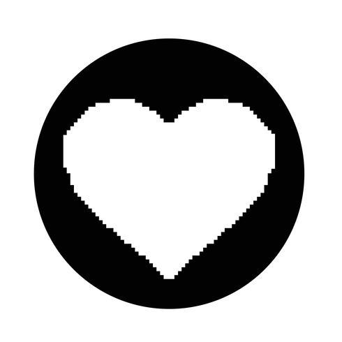 Hart pictogram vector