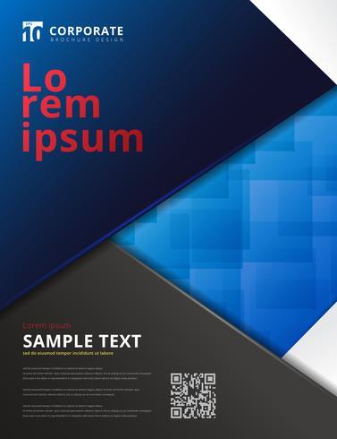 Fondo azul del color del diseño digital de la tecnología de la plantilla del folleto.