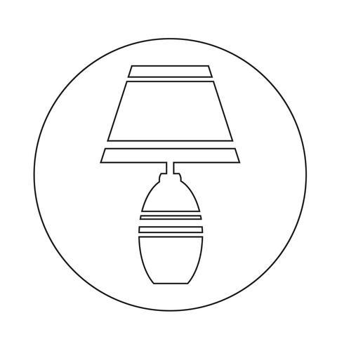 icono de la lámpara del hogar