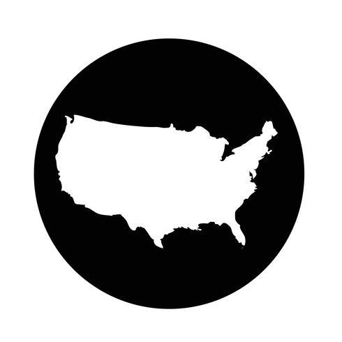Icono de mapa de Estados Unidos