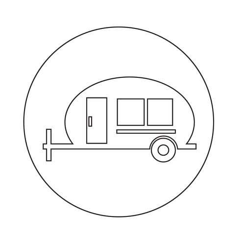 Recreatie voertuig pictogram