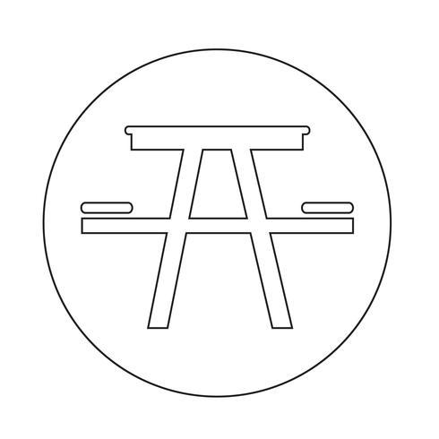 Icono de la mesa de camping