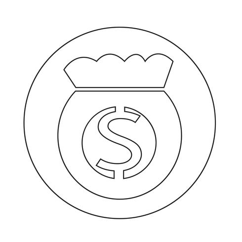 Pengar väska ikon