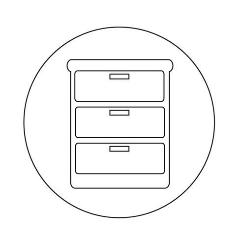 Kleiderschrank-Symbol vektor