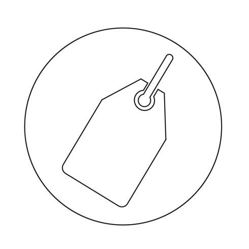 Icono de etiqueta de venta