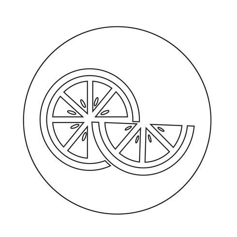 Orange ikon vektor