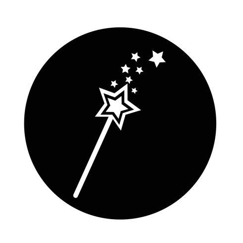 Zauberstab-Symbol vektor