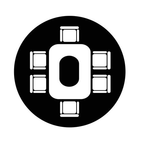 ícone de mesa de negócios de conferência