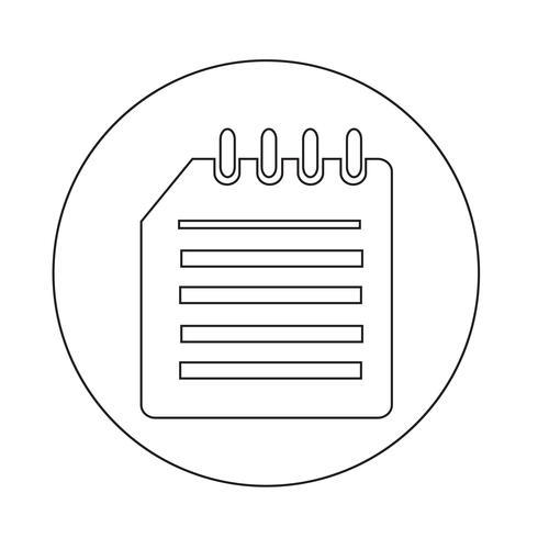 ícone de caderno