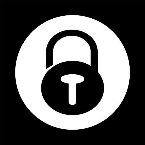 Lock security icon vector