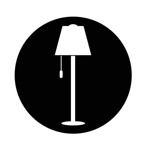 Icono de la lámpara vector