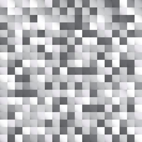 Abstrakt vitt och grått rutor mönster pixel bakgrundsdesign