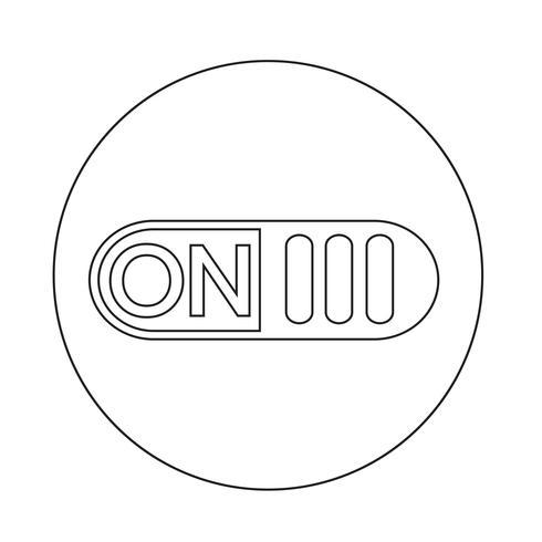 En el icono del botón de interruptor