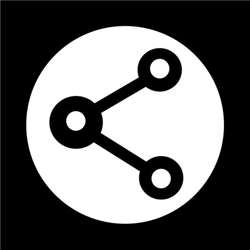 icône de partage web vecteur